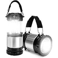 Odoland 2-In-1 300 Lumen LED Camping Lantern Handheld Flashlights