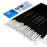 50 Pcs Pack of Synthetic Sable Fine Detail Paint Brushes Set for Miniature, Scale Model, Art Painting in Acrylic, Oil, Watercolor - Pointed Round (Size #00 (Small)) (Tamaño: Size #00 (Small))
