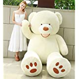 YXCSELL 51 Inches/130cm White Beak Bear Stuffed Polar Soft Lifesize Teddy Bear For Your Lover (Color: White, Tamaño: 51 Inches)