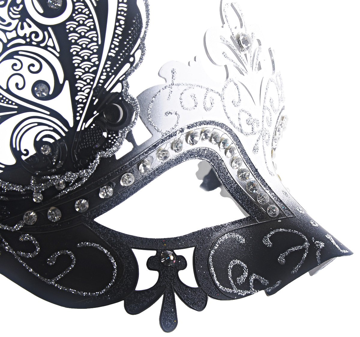 Coxeer Venetian Mask Halloween Mask Party Mask Vintage Masquerade Mask for Prom 4
