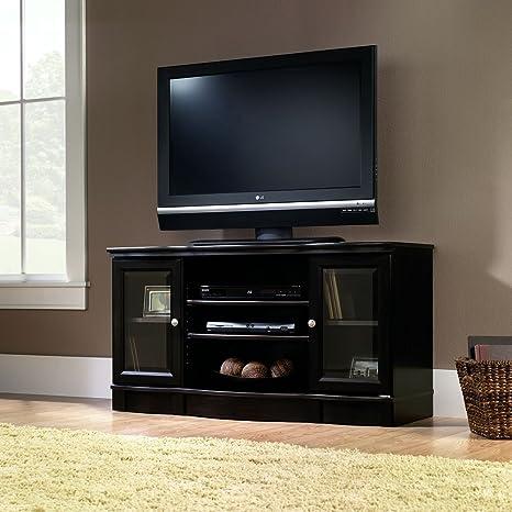 Sauder Regent Place Panel TV Stand, Estate Black Finish