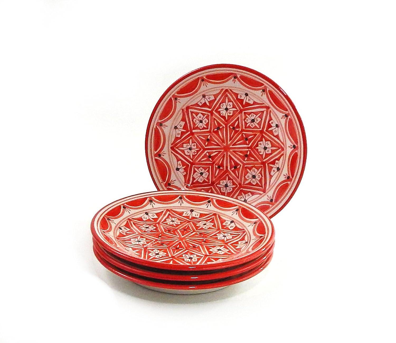 Le Souk Ceramique Nejma Design Side Plates, Set of 4