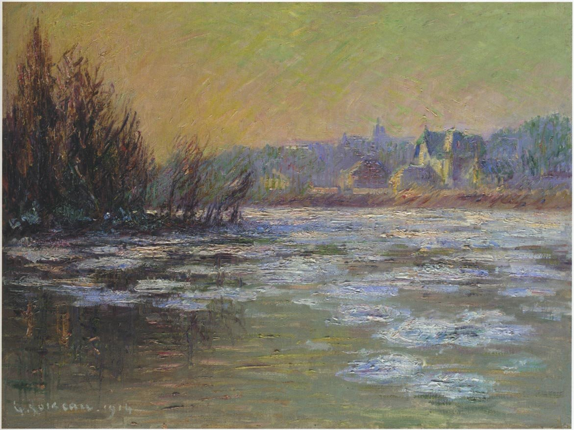 Ice on the Oise River - by Gustave Loiseau