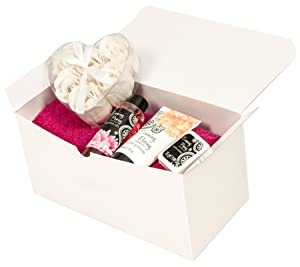 White Gift Boxes 10pack 9 x 4.5 x 4.5 inch Gift Boxes with Lids, Bows and Tissue Paper - Bridesmaid Box Perfect to Wrap Presents, Baby Clothes, Cupcakes, Cookies and Other Gifts. (Color: White, Tamaño: 9x4.5x4.5)
