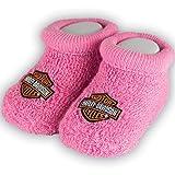 Harley-Davidson Girls Baby Booties Boxed Pink (Color: Pink, Tamaño: 0/3M)