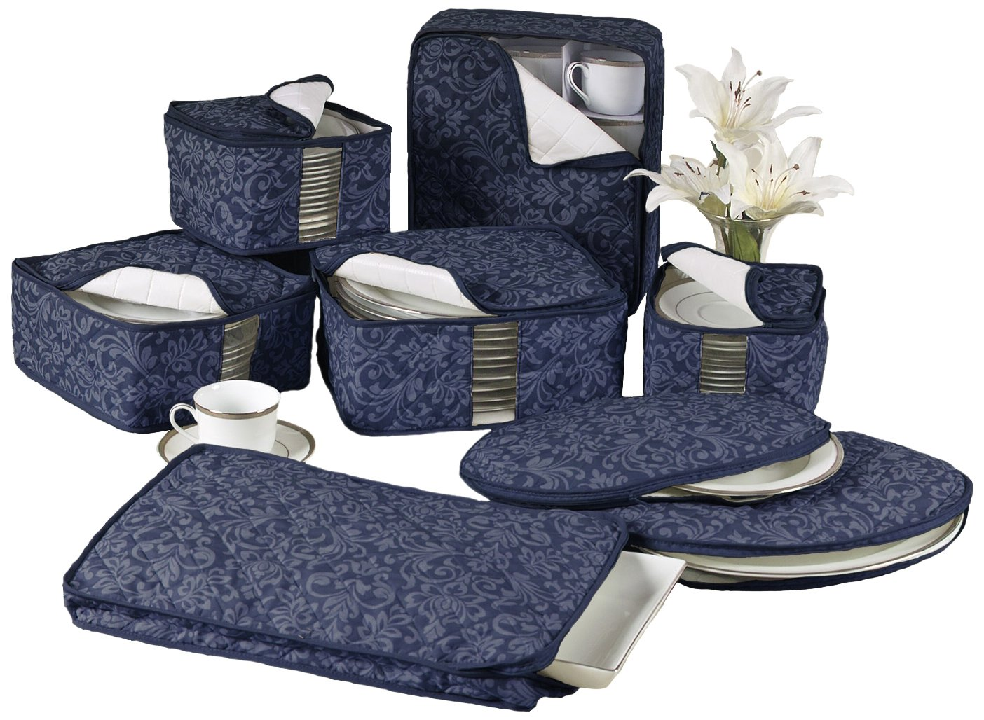 China Storage Container Set Homewear 8 Piece Hudson Damask