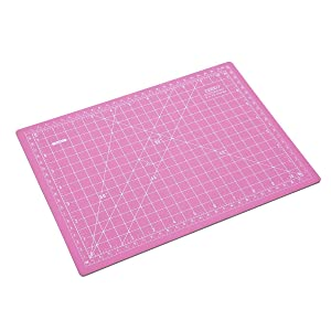 ZERRO Self Healing Cutting Double-Sided Rotary Mat Non-Slip 5-Ply Thick 9 x 12 Pink/Blue(A4) (Tamaño: P/B:12x9 inches)