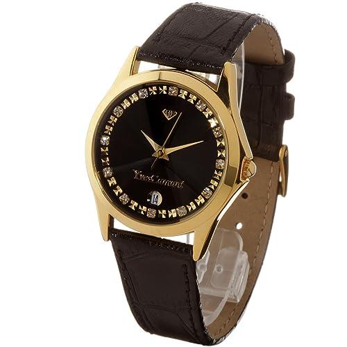 Yves Camani Golden Twinkle Black 302-GSG Armbanduhr
