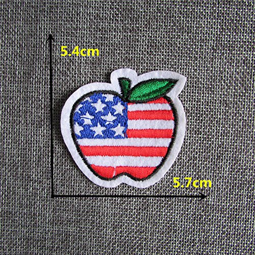 [FairyPark 2016 Year All Kinds Style Fruit Modelling Hot Melt Adhesive Applique Embroidery Patch Diy Clothing Accessory Patch 1Pcs Perfect] (National Costume Of All Countries)