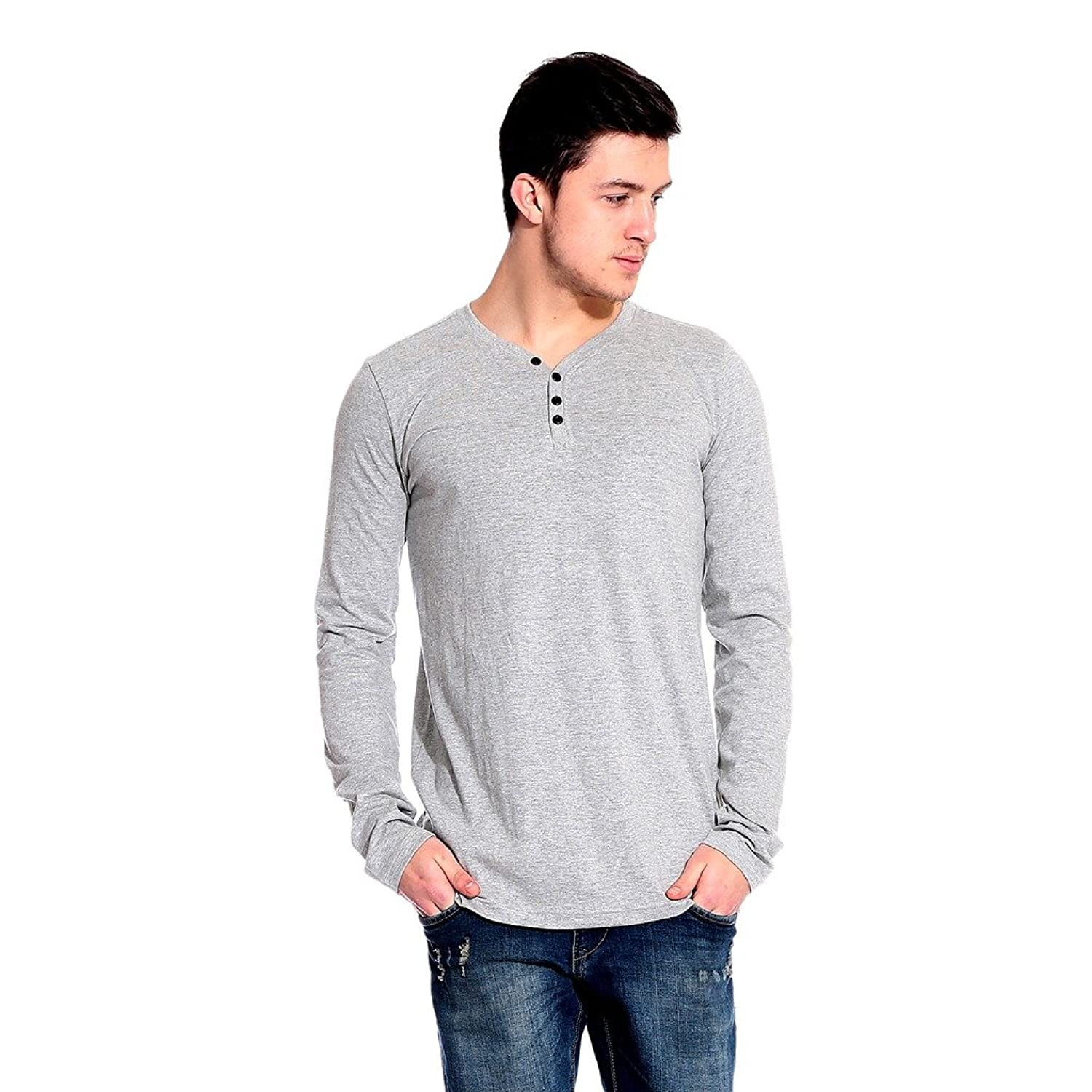 Flat 60% off On Clothing Top Brands By Amazon | Lemon & Vodka Henley Mens Solid Tshirt @Rs. 299
