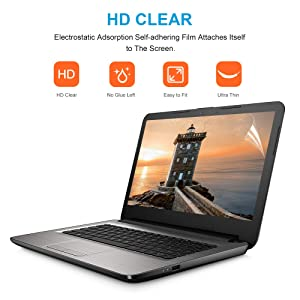 14-inch Laptop//chromebook Crystal Clear Screen Protector,Notebook Computer Screen Guard Protector for HP//DELL//Asus//Acer//Samsung//Lenovo//Toshiba chromebook,Laptop etc,Display 16:9 2PCS