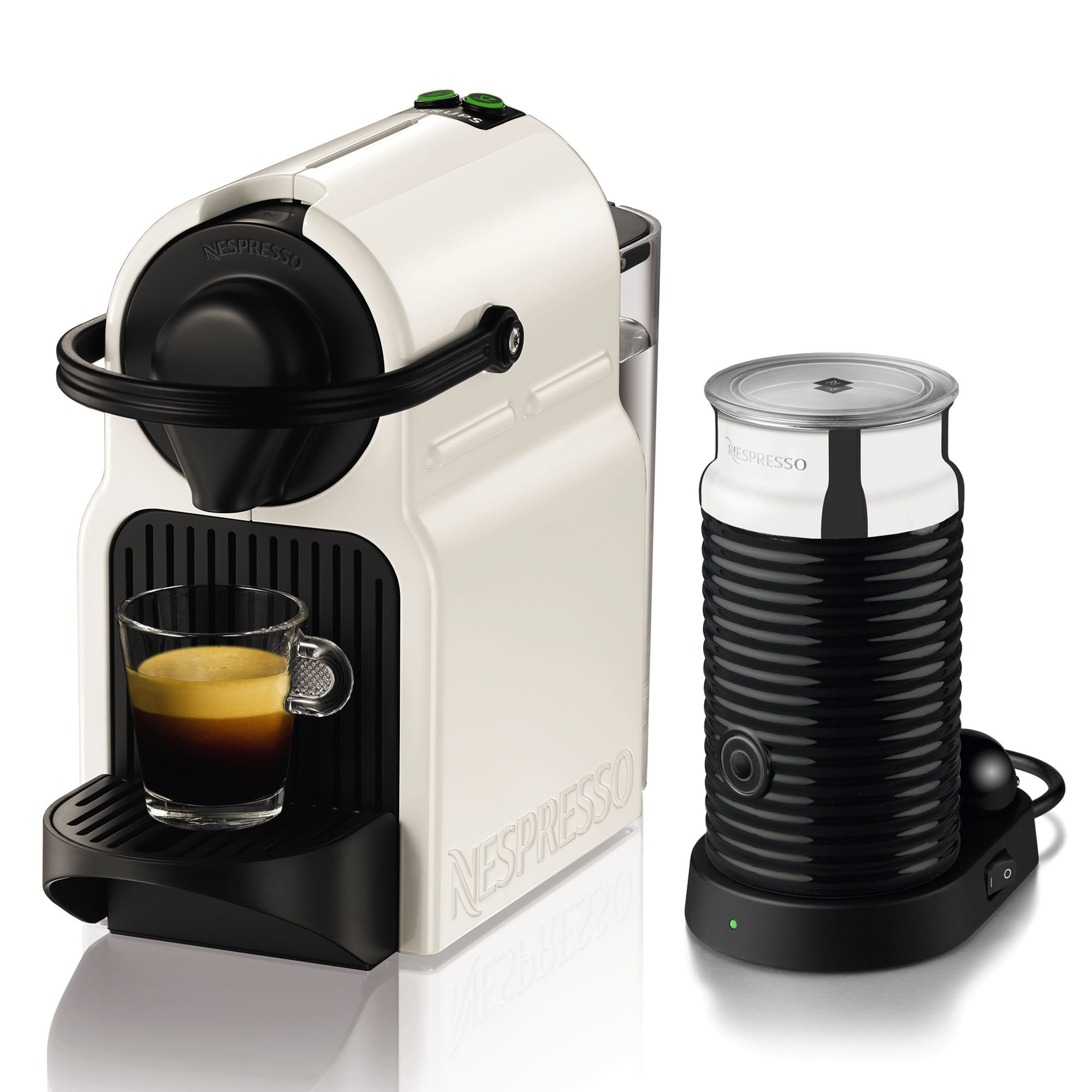 nespresso by krups nespresso inissia by krups coffee capsule machine with aer ebay. Black Bedroom Furniture Sets. Home Design Ideas