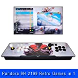 Arcade Console 2199 in 1 Classic 2 Player Home Arcade Machine Double Stick Retro Video Games Pandora Moonlight 9H 1280x720 HD Game Joystick 1Up 2Up 3D Arcade Support Expend USB Gamepad for PC PS3 PS4