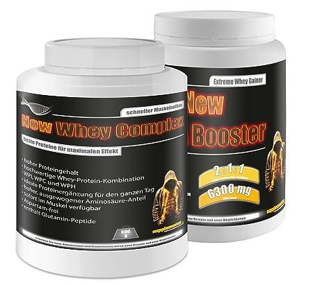BCAA Booster 454g Multifrucht+Whey Complex 600g Banane! BCAA Glutamin Eiweiß Molkenprotein Diät Abnehmen Amino Aminsäuren low carb