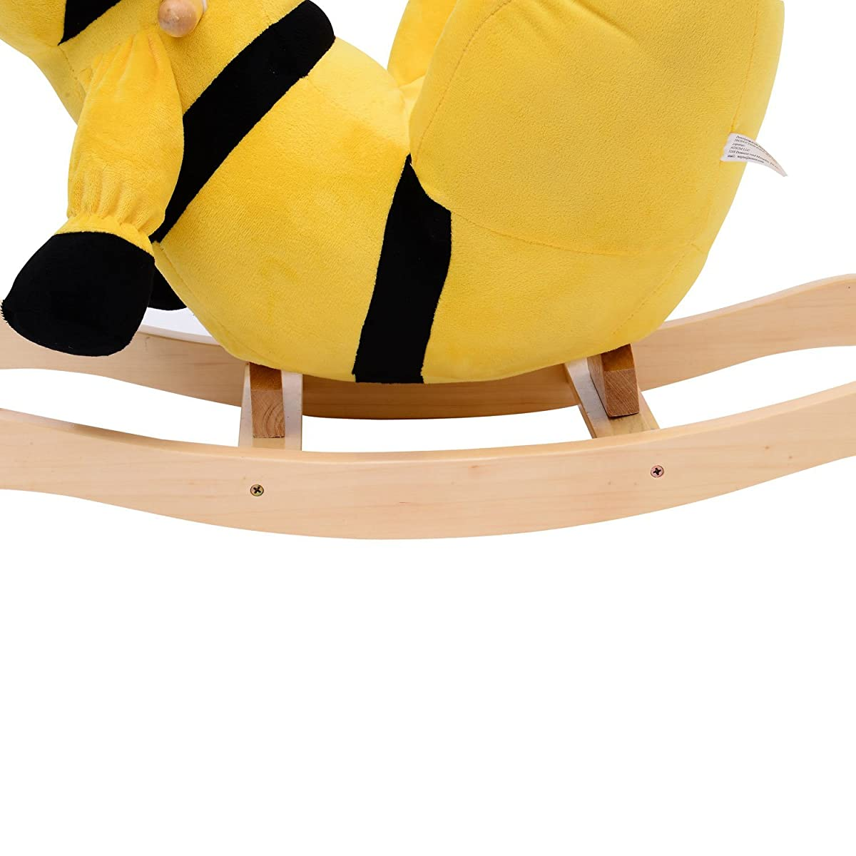 Qaba Kids Plush Rocking Horse-Style Bumble Bee Theme Chair