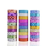 Agutape 30 Rolls Washi Masking Tape Set,Decorative Craft Tape Collection for DIY and Gift Wrapping with Colorful Designs and Patterns
