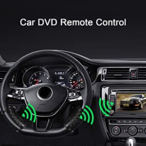 KKmoon Steering Wheel Remote Control Car DVD Remote Controls