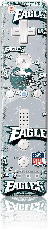 NFL - Philadelphia Eagles - Philadelphia Eagles - Blast - Wii Remote Controller - Skinit Skin new arrival white black motion plus sensor for nintendo wii console remote wireless for wii remote controller