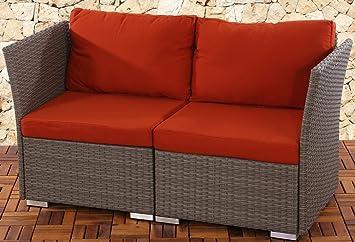 Canap de jardin siena siena 2 places polyrotin pr - Salon de jardin modulable siena polyrotin ...