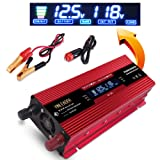 IpowerBingo 1000W/2000W(Peak) Solar Power Inverter for Home Car RV with 2 AC Outlets Converter 12V DC to 110V AC Inverter LCD Display Best quality