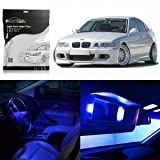 Partsam 1999-2005 BMW E46 Sedan Wagon Coupe Blue Interior LED Light Package Kit (7 Pieces)