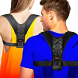 4well Posture Corrector for Women Men - Rounded Shoulders Ultimate Comfort Designed in USA - Wearable Posture Support Straps for Upper Back. Fix Postu
