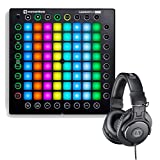 Novation Launchpad Pro USB MIDI Controller for Ableton Live with Audio Technica M30X Headphones