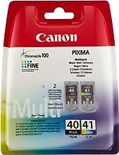 Comprar Canon PG-40 / CL-41 - Cartuchos de tinta para impresoras (12 ml Color, 16 ml Negro, blíster con alarma acústica de seguridad)