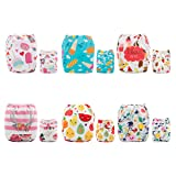 ALVABABY New Reuseable Washable Pocket Cloth Diaper 6 Nappies + 12 Inserts 6DM55 (Color: boy color 6DM55, Tamaño: All in one)