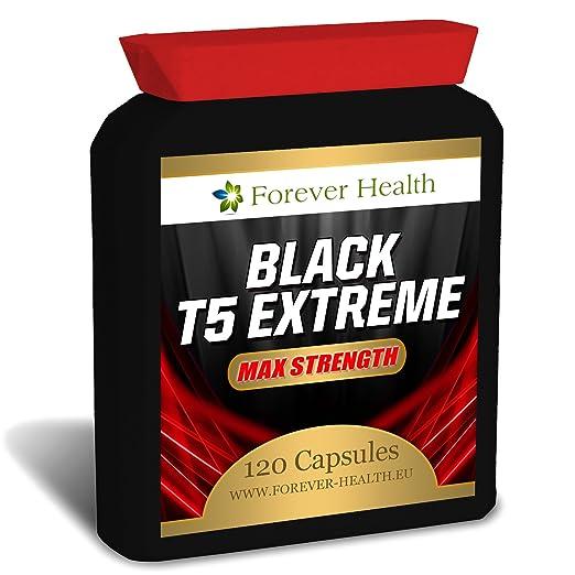 T5 BLACK EXTREME * Stärkste Fat Burner * Verlieren Bis Zu 6 kg in 8 Wochen ! Speziell Fur Super Schnellen Gewichtsverlust Und Stoffwechsel Schub formuliert - 120 x Diät Pillen - Gewicht Und Schlank Zu Verlieren Schnell Mit Diesen Sehr Starkes Ab