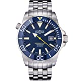 Davosa Automatic Swiss Made Men Watch, Professional Argonautic BG 16152240, Stainless Steel Wrist Band, Exceptional Luminous Analog Face (Color: Silver,Blue)