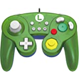HORI Nintendo Switch Battle Pad (Luigi) GameCube Style Controller Officially Licensed By Nintendo - Nintendo Switch (Color: Luigi)