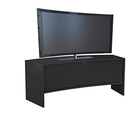 "VCM 14361 TV-Möbel ""Curvedo 130"" Holz 50 x 50 x 130 cm, schwarz"