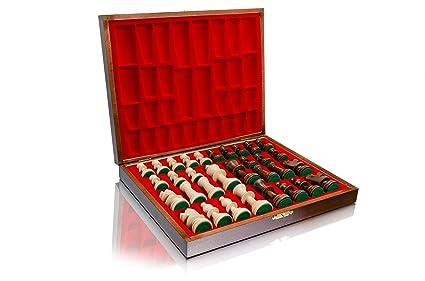 STAUNTON No.5 DELUXE professionnels en bois Figures d'échecs pondérées en cassette en bois