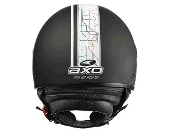AXO mS1P0013 casque jet subway taille xS (k00 jet noir)