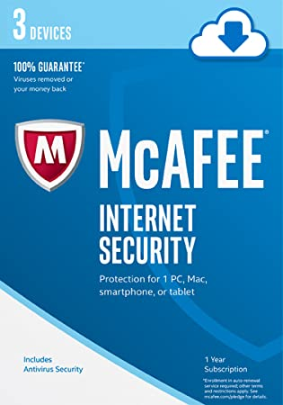 McAfee 2017 Internet Security - 3 Devices [Online Code]