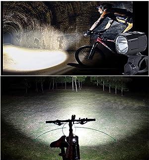 Nestling USB Rechargeable LED Bike Light Set 1200 Lumen Bicycle Headlight...
