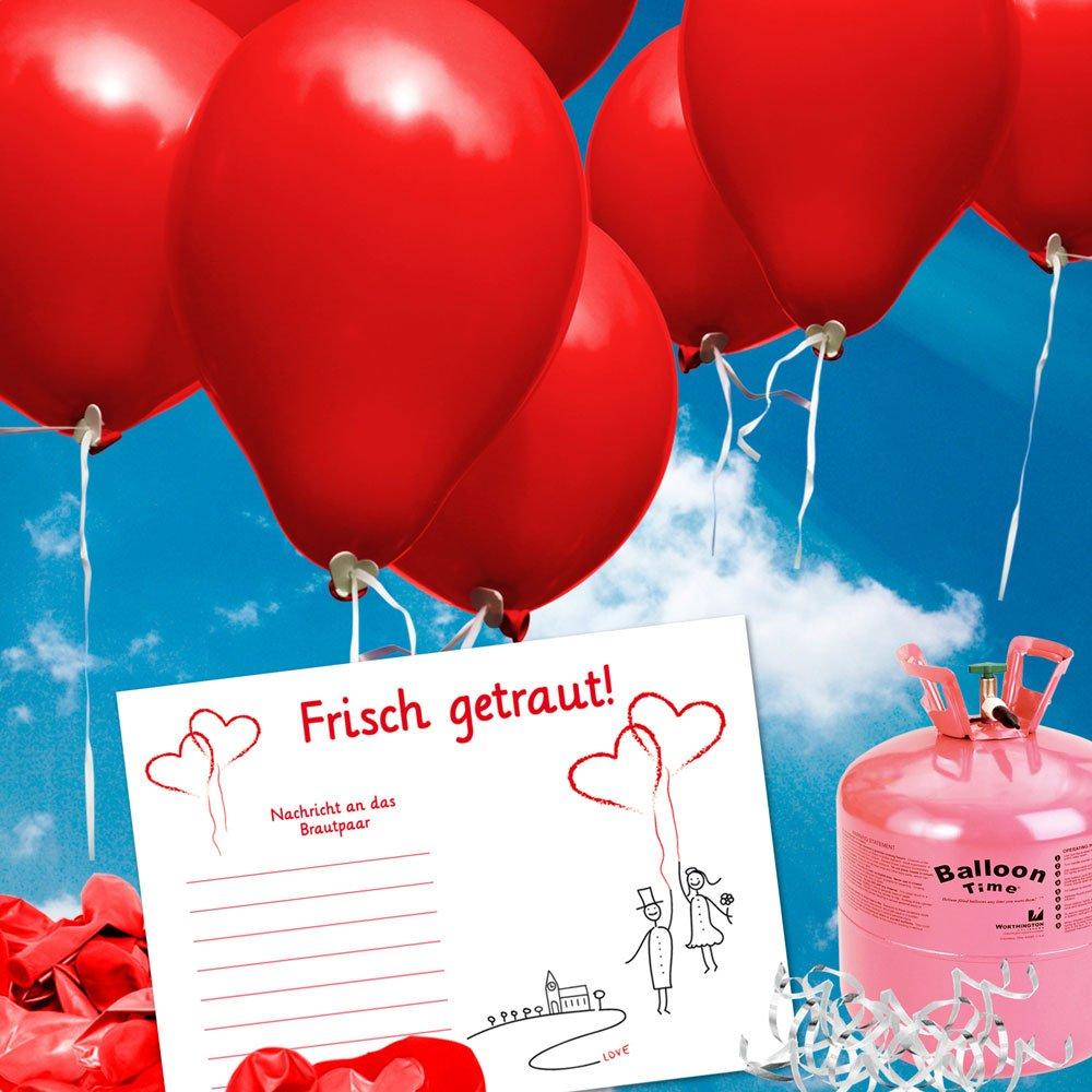 100 Ballonflugkarten zur Hochzeit GELOCHT, PORTOFREI möglich, Flugkarten für Hochzeitsballons im Set zum Hochzeitsspiel im Ballonflugkartenset  Hochzeit LuftballonHochzeitspaar  Spielzeug Rezension