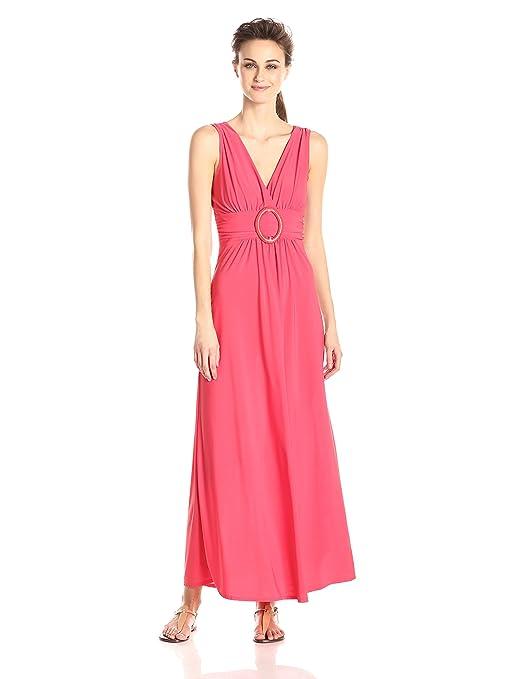 Star Vixen Women's Sleeveless O-Ring Maxi Dresses