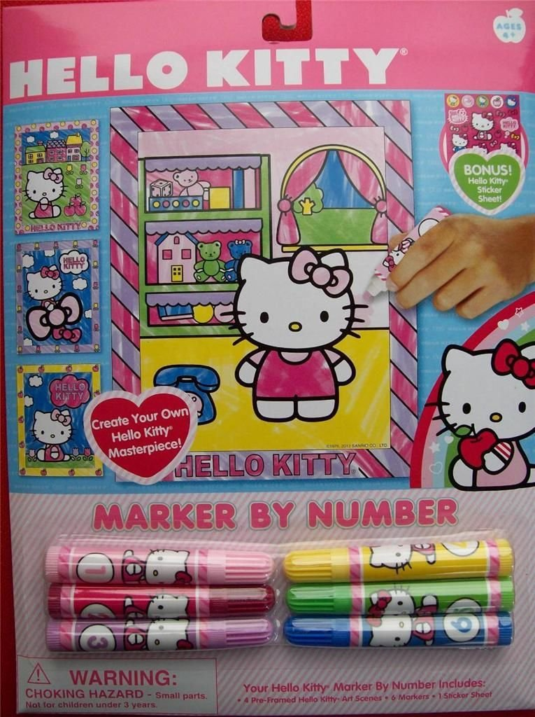 Hello Kitty Marker By Number hello kitty marker by number
