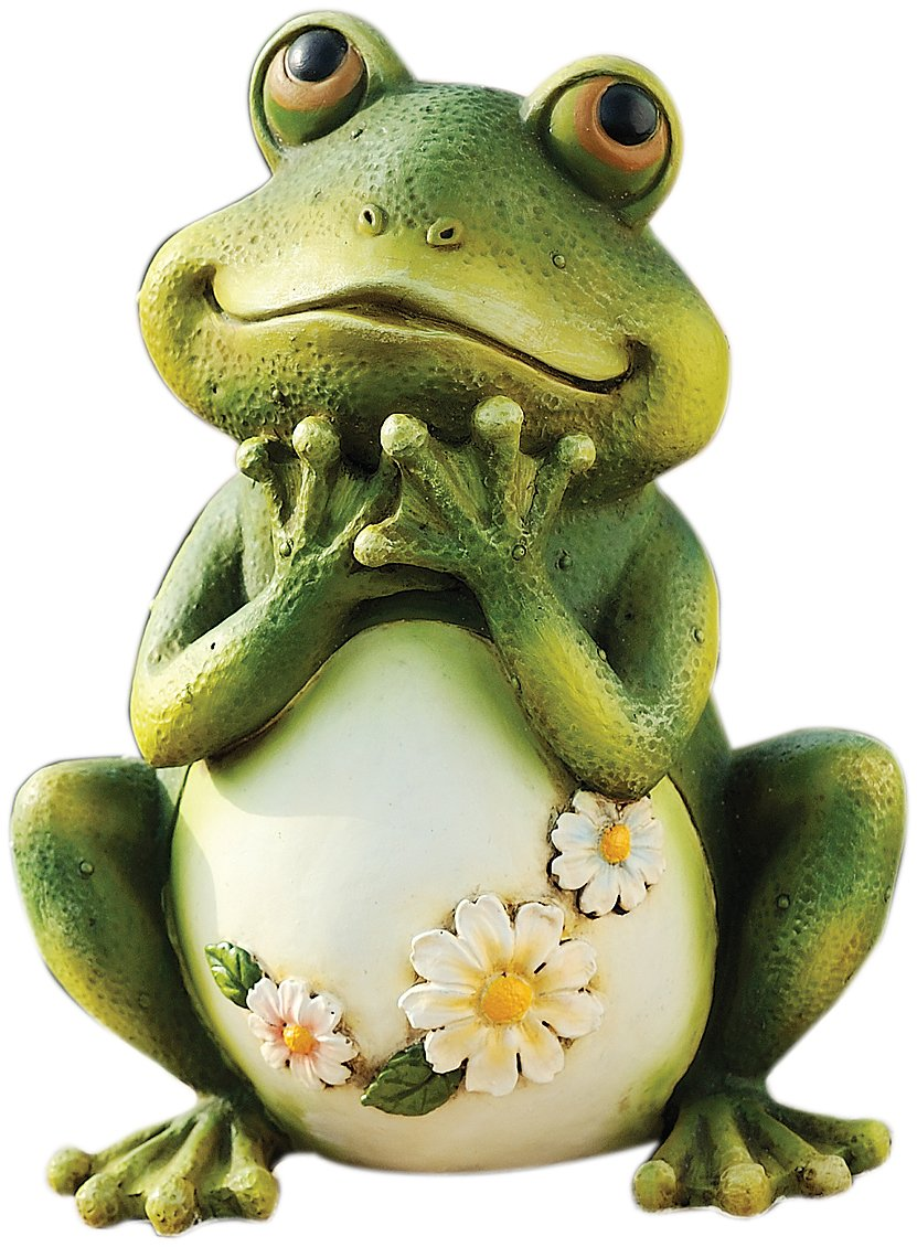Statue frog resin stone mix decorate garden studio art for Whimsical garden statues