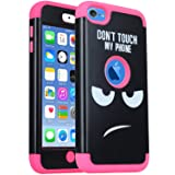 iPod Touch 7th Generation Case, iPod Touch 6 Case,SAVYOU 3 in 1 Combo Hybrid Impact Resistant Shockproof Case Cover Protective for Apple iPod Touch 5/6th/ 7 Generation (Hot Pink) (Color: F-Hot Pink, Tamaño: iPod Touch 7 Touch 6 Touch 5)