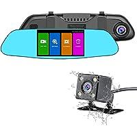 NEXGADGET Dual Lens Mirror Dash Cam