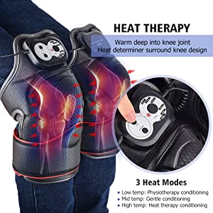 Heat Therapy, Knee Joints Massager for Pain Relief, Knee Massager with Heat and Vibration, Physiotherapy Recovery Therapy, Ideal Gift for Mom/Dad/Men/Women (Color: Knee Joints Massager)