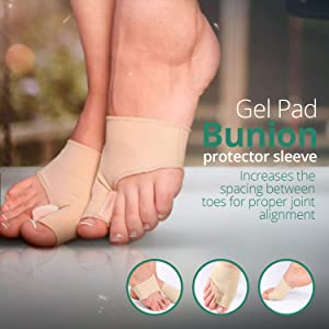 Orthopedic Bunion Relief Kit || Hallux Valgus Correction || Hammer Toe Straightener Spacers, Overlapping Toes Corrector, Big Toe Gel Cushion Pad Splint || Eliminates Bunion Pain || 6pieces + Gift