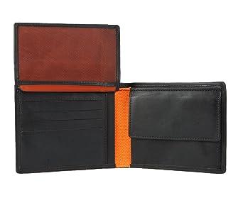 f8d29243f92d7 Testbericht lesen   BRUNO BANANI HERREN GELDBEUTEL PORTEMONNAIE GELDBÖRSE  Black Orange