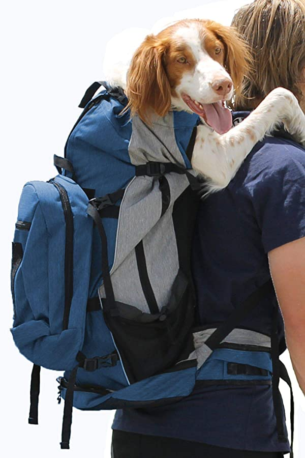 K9 Sport Sack | Dog Carrier Backpack for Small and Medium Pets | Front Facing Adjustable Pack with Storage Bag | Fully Ventilated | Veterinarian Approved (X-Large, Rover - Blue) (Color: Rover - X-Large / Blue, Tamaño: X-Large)