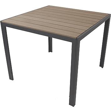 3tlg gartenm bel set alu polywood non wood gartentisch 90x90cm 2x hochlehner klappbar. Black Bedroom Furniture Sets. Home Design Ideas