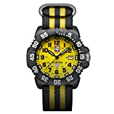 Luminox 3955.SET Men's Sea Scott Cassell Specials Yellow Dial Interchangeable Strap Dive Watch Set (Color: Yellow)