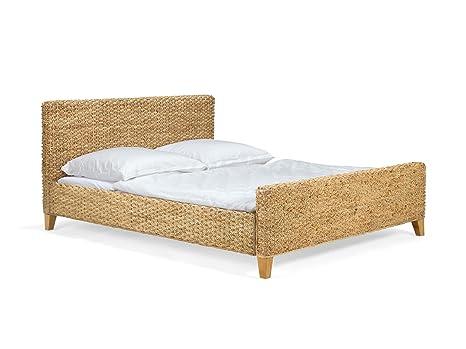 massivum Bett Nizza 160x200cm Wasserhyazinthe natur lackiert